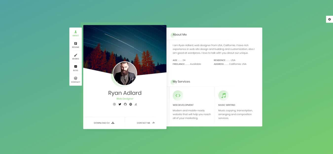 resume website templates ryan