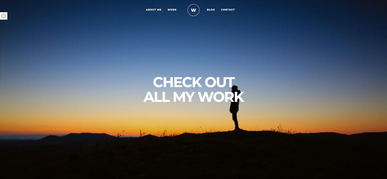 resume website templates white
