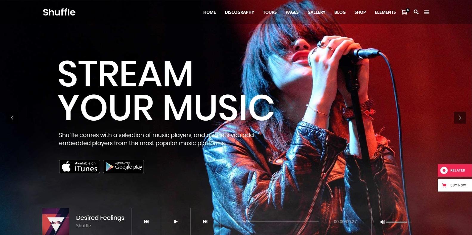 shuffle-music-website-templates