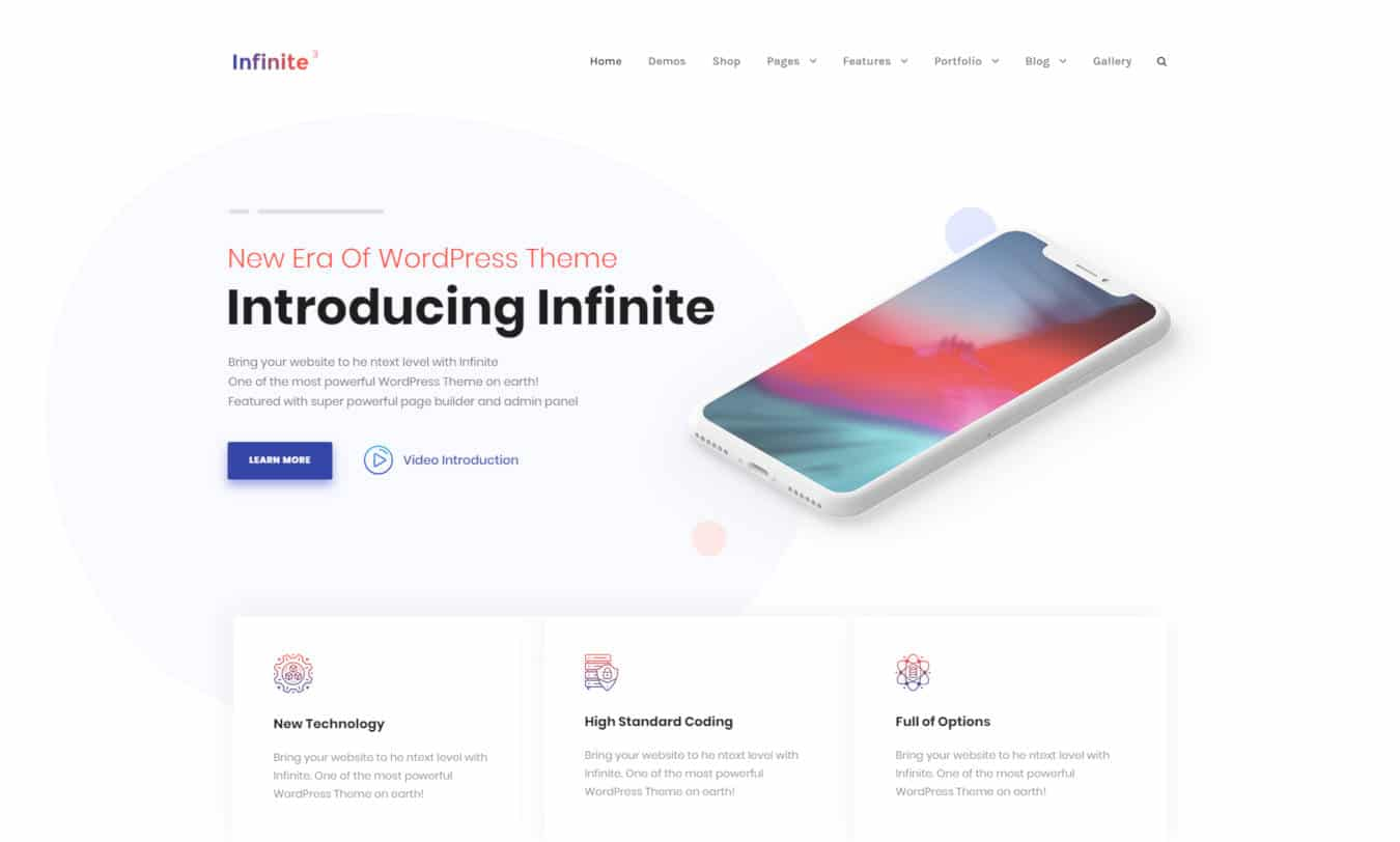 software company websites templates infinite