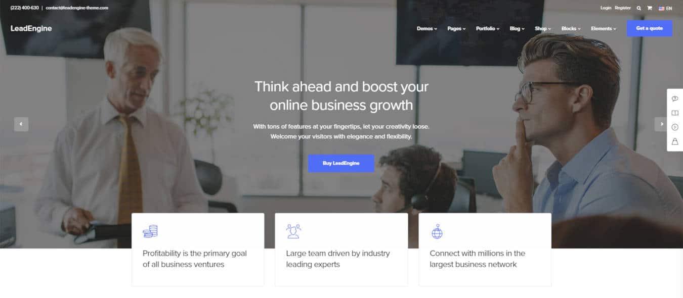 software company websites templates leadengine