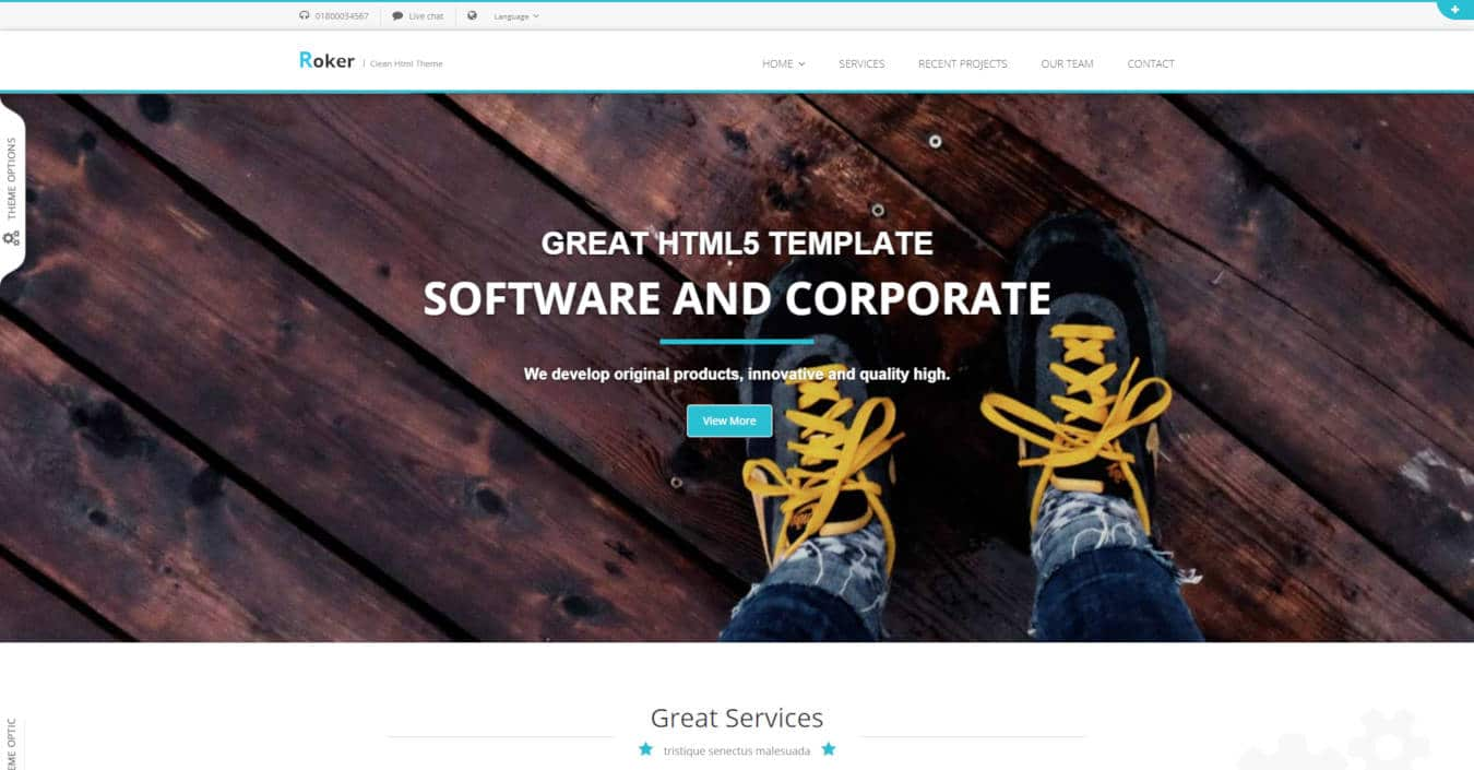 software company websites templates roker
