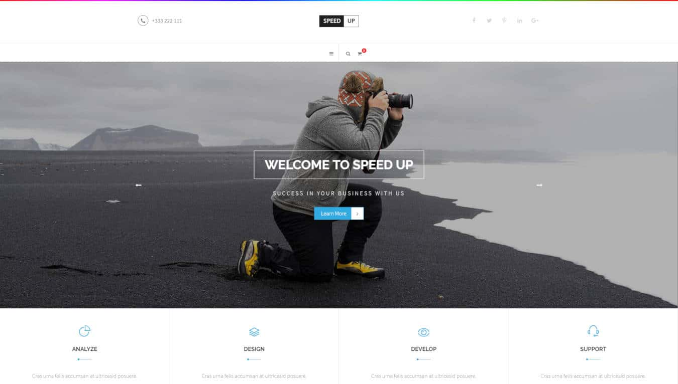 software company websites templates speed up