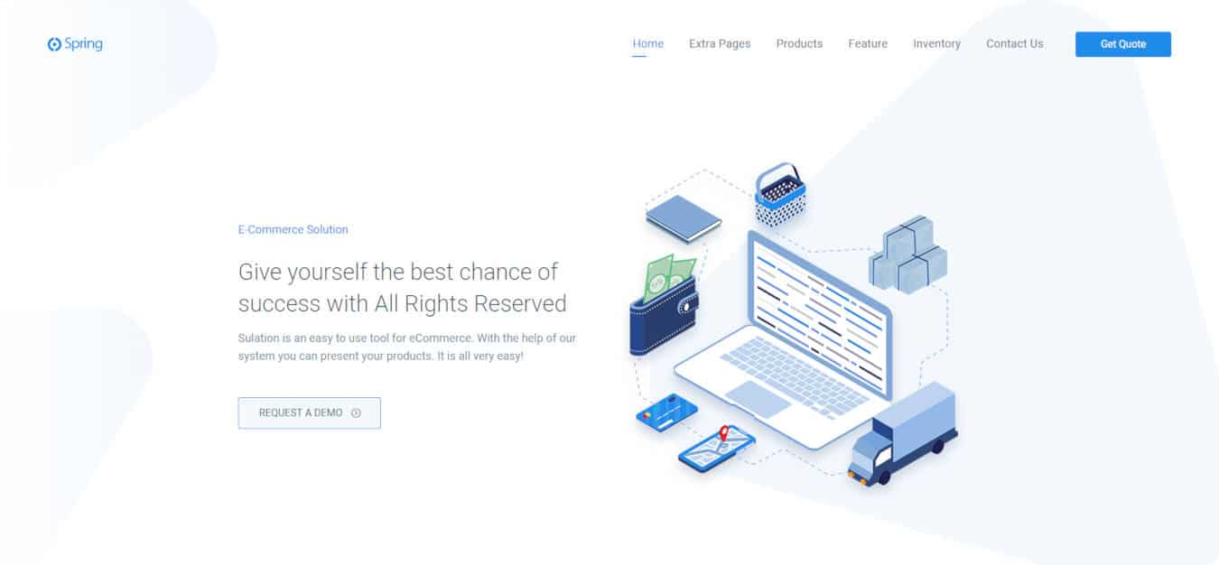 software company websites templates spring