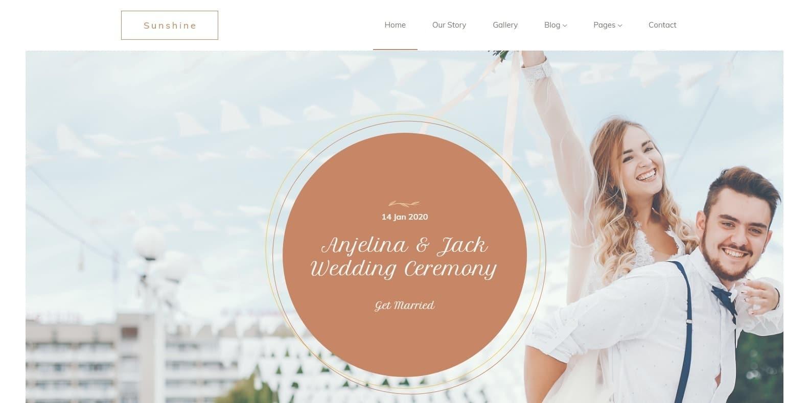 sunshine-wedding-website-template