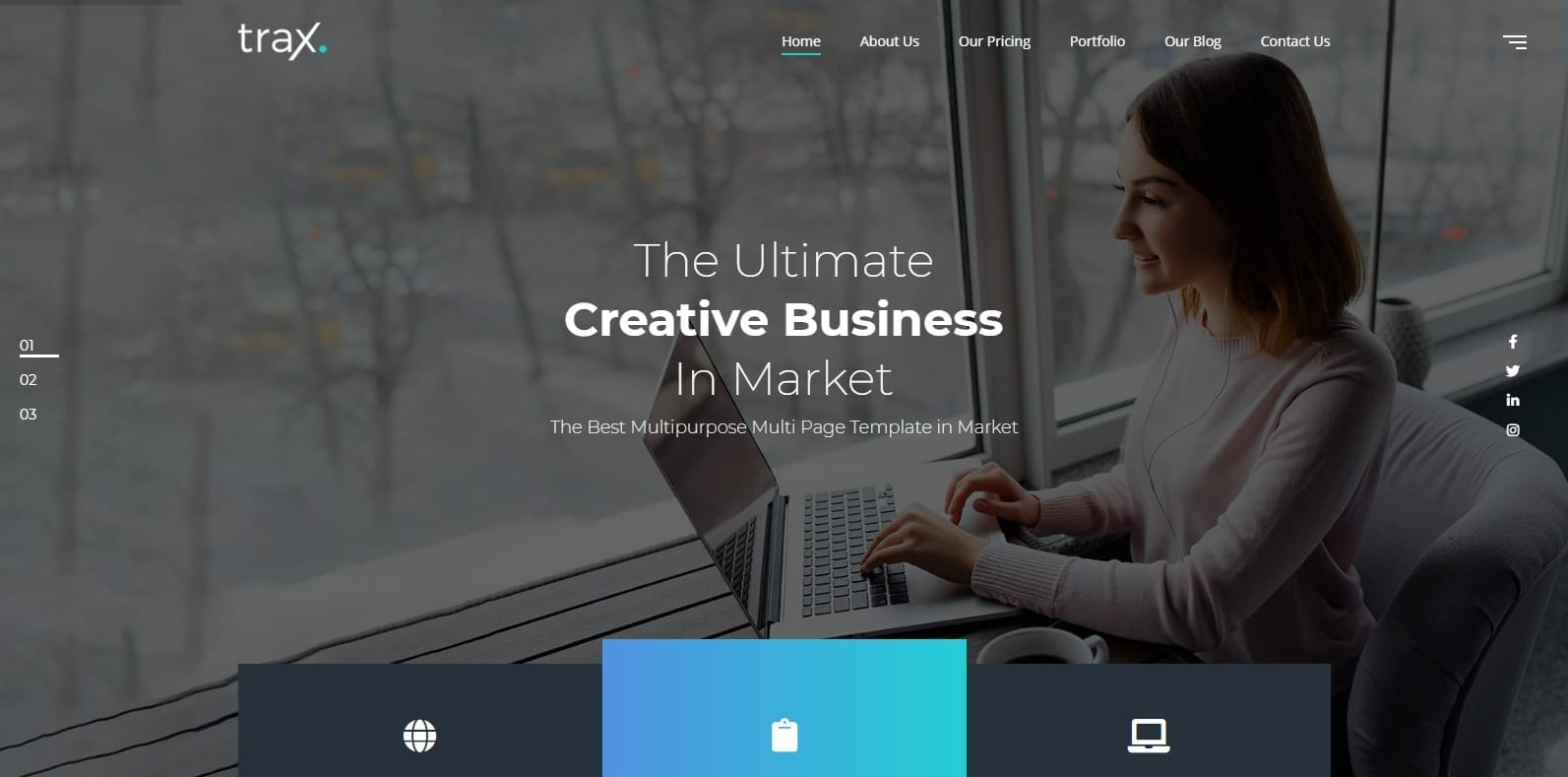 trax-one-page-website-template