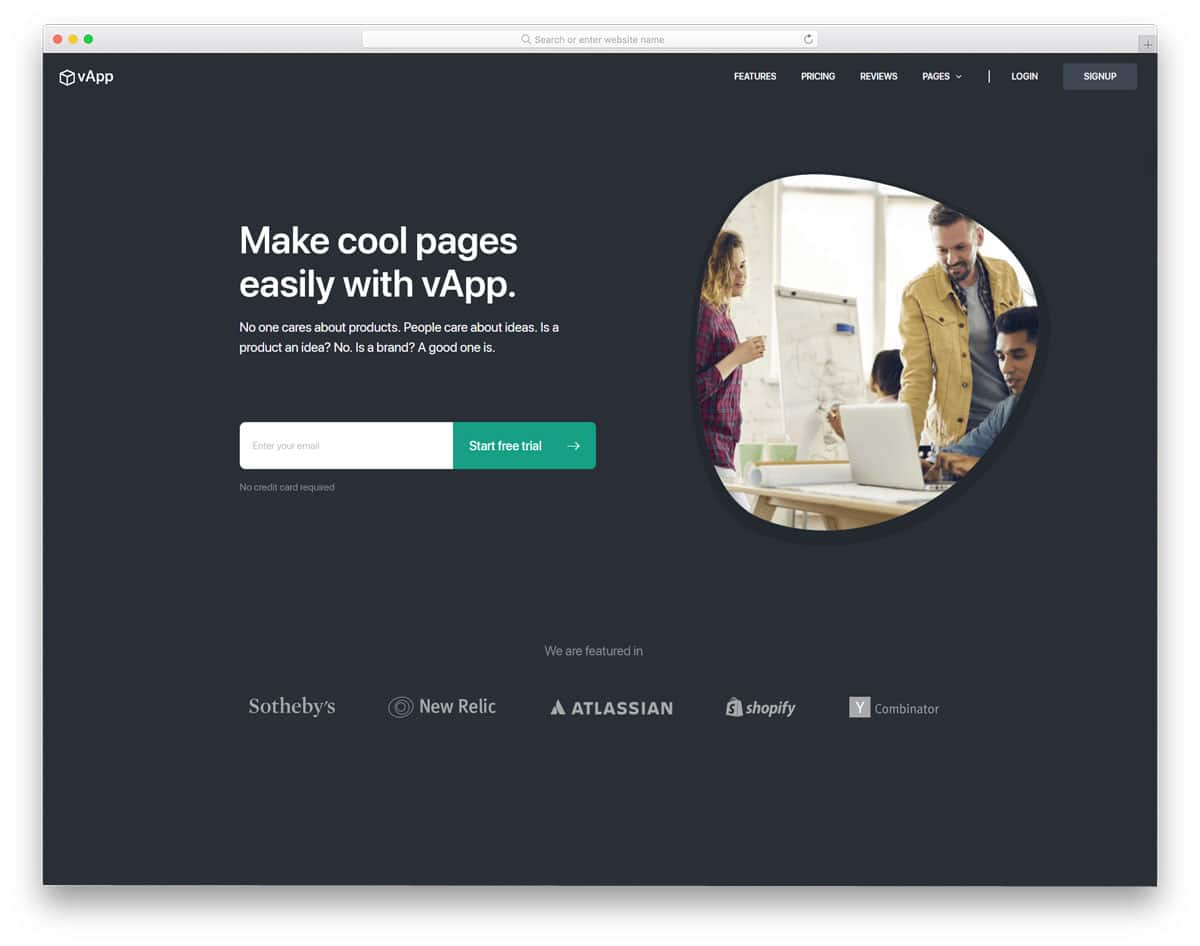 trendy looking lead generation wordpress theme for startups