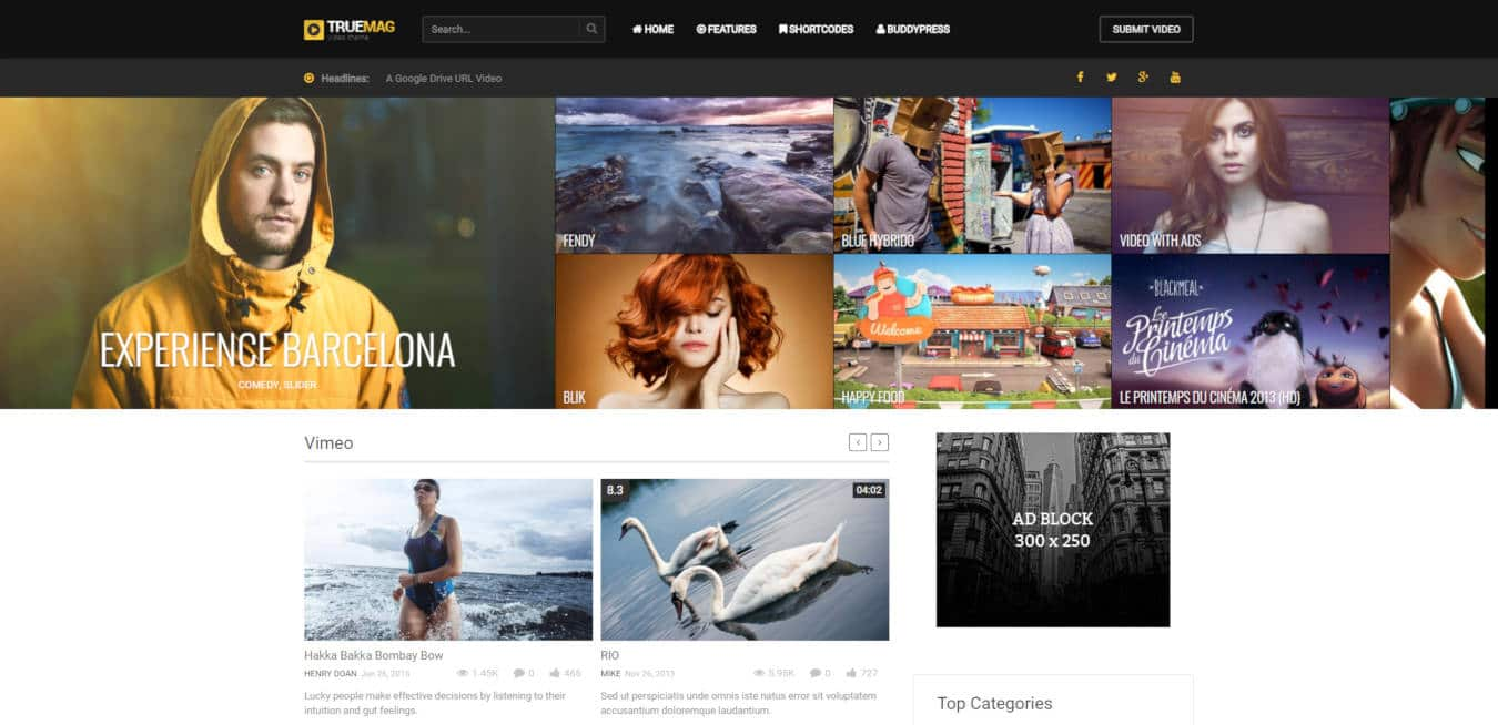 18 Premium Video Website Templates & WordPress Themes For 2019