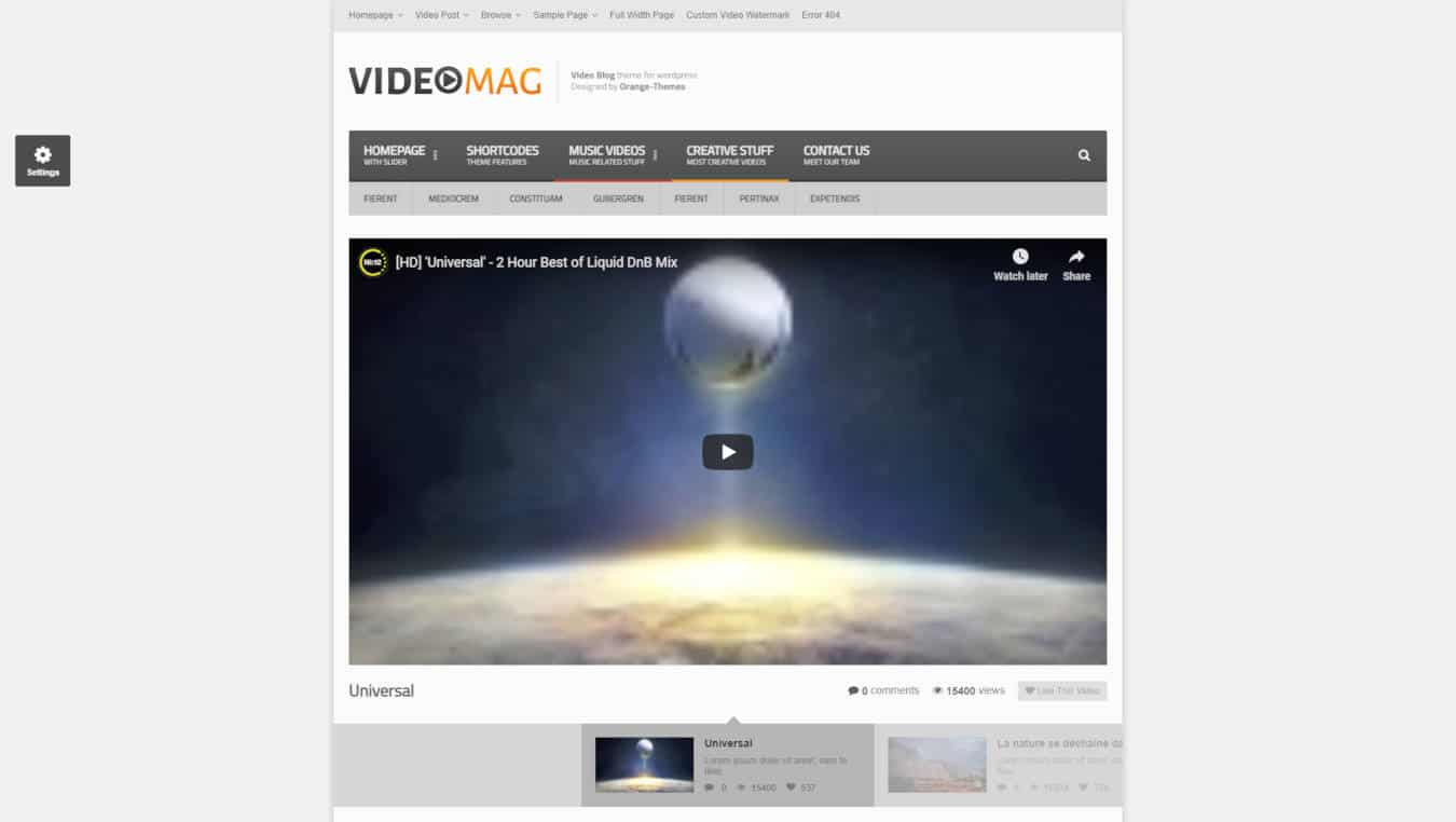 video website templates videomag