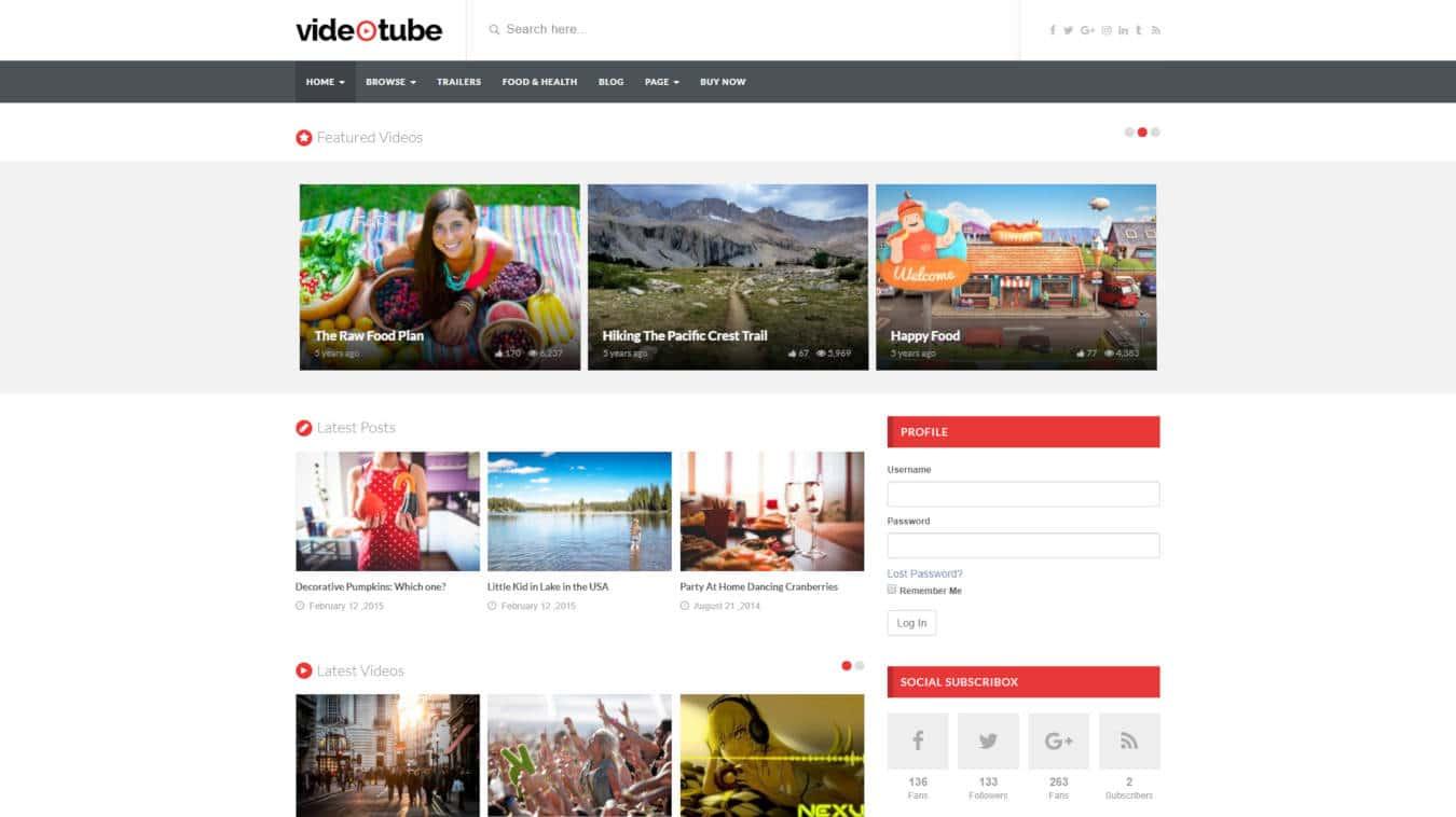 video website templates videotube