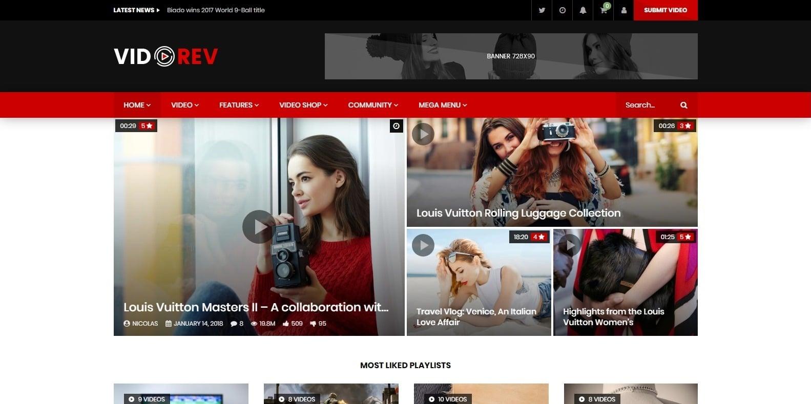 videorev-video-website-template