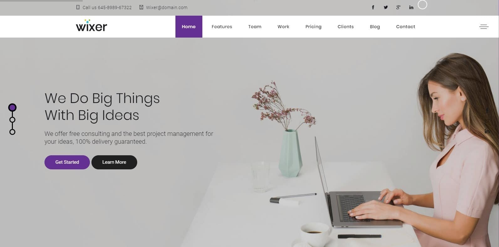 wixer-one-page-website-template