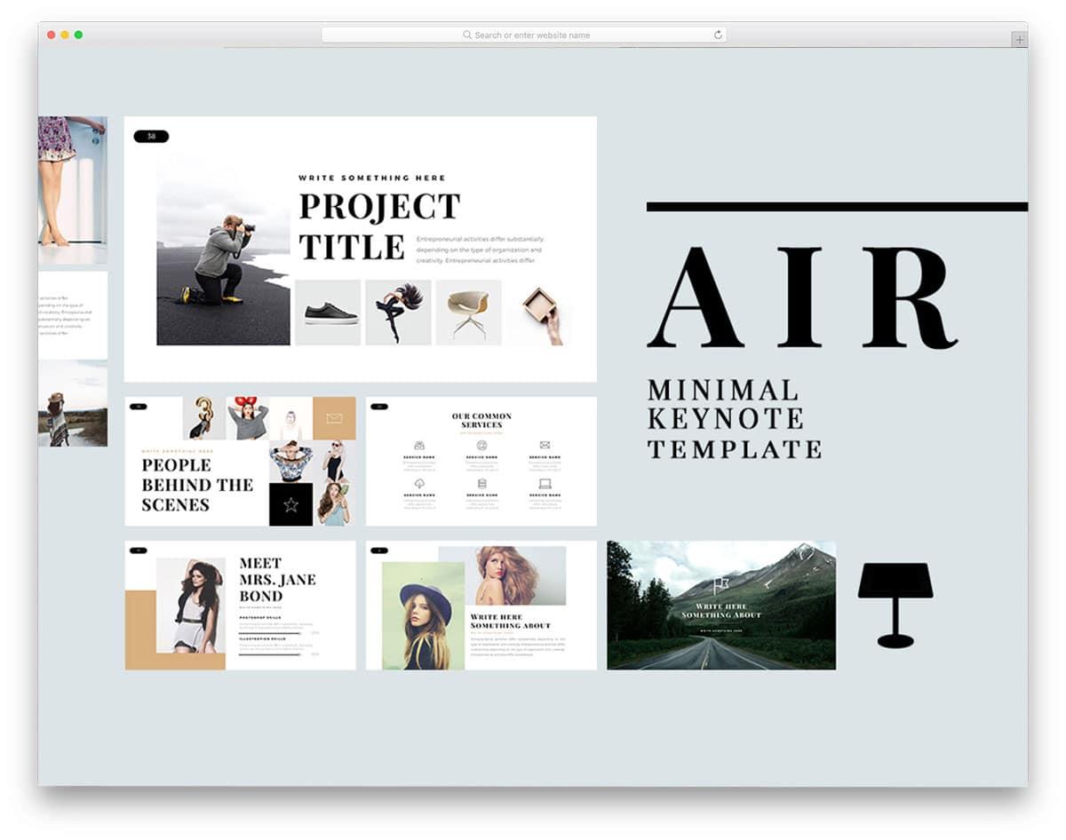 minimal-looking presentation template