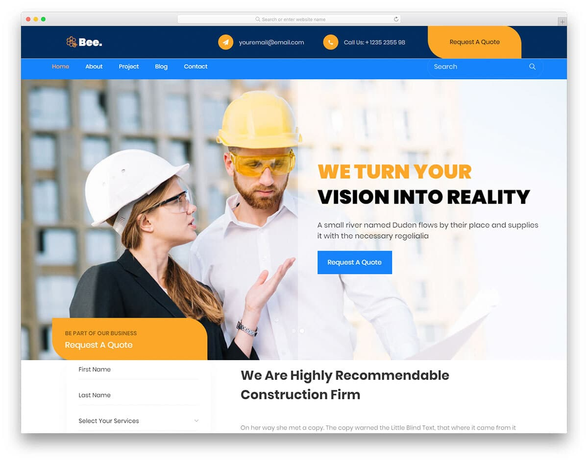 website template with promotional and conversion elements