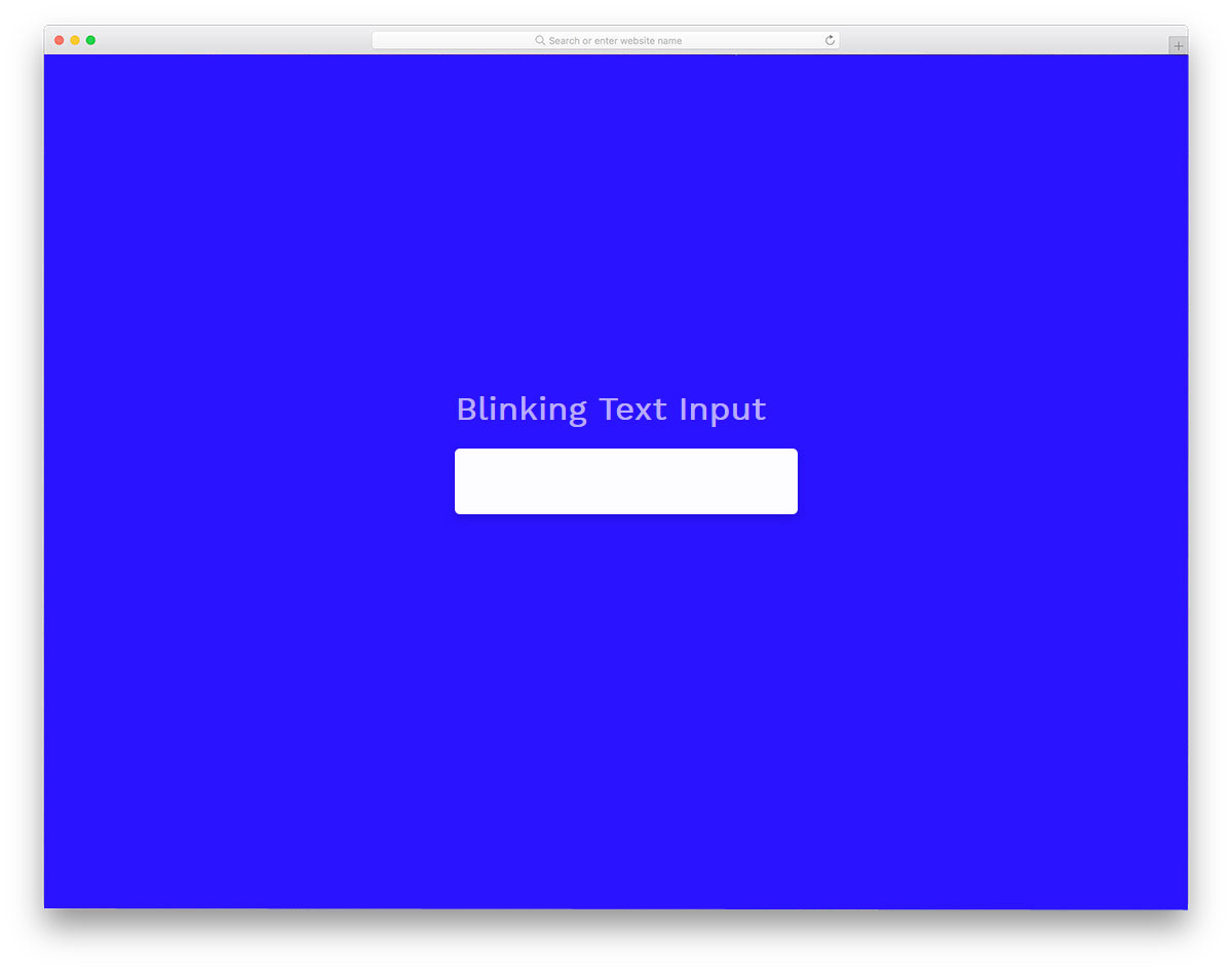 css input text field with subtle animation