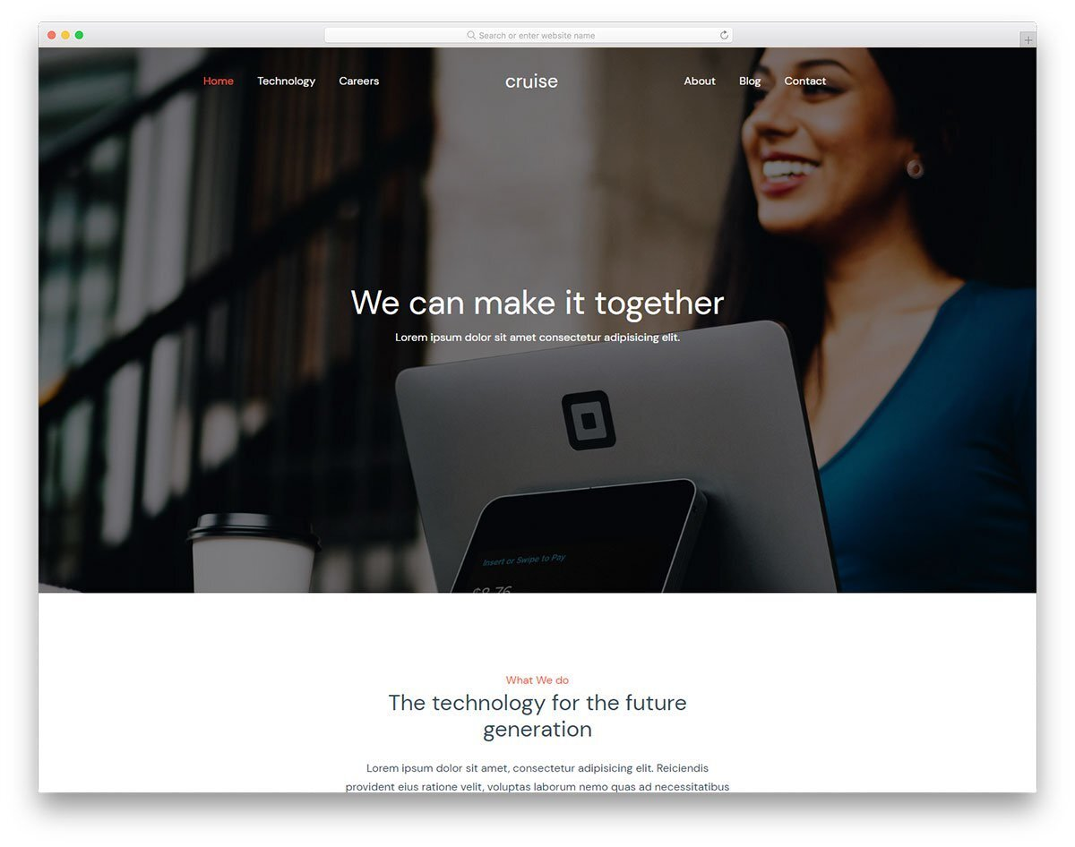 free bank website templates for technology focused banks