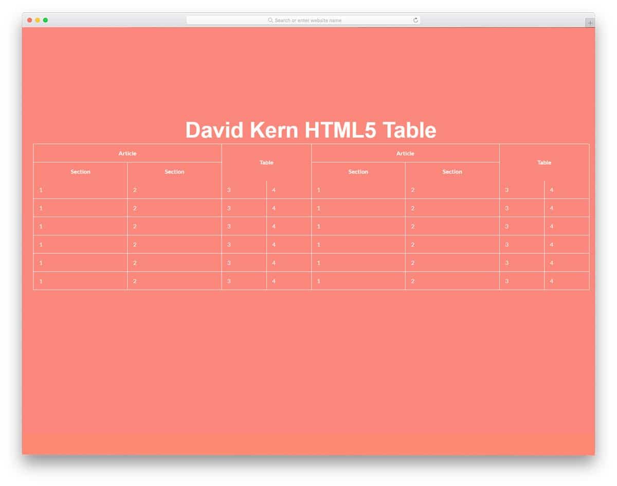 minimalistic table design