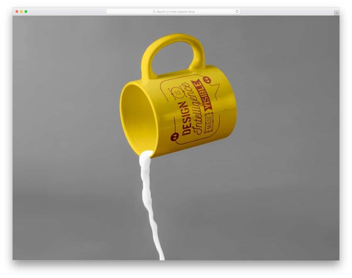 free mug mockups with milk