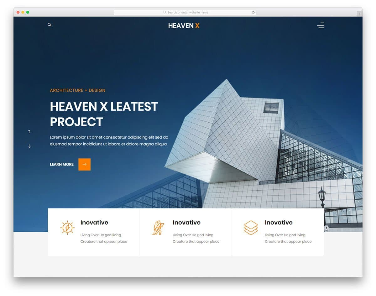 multipurpose website template for architects and interior designers