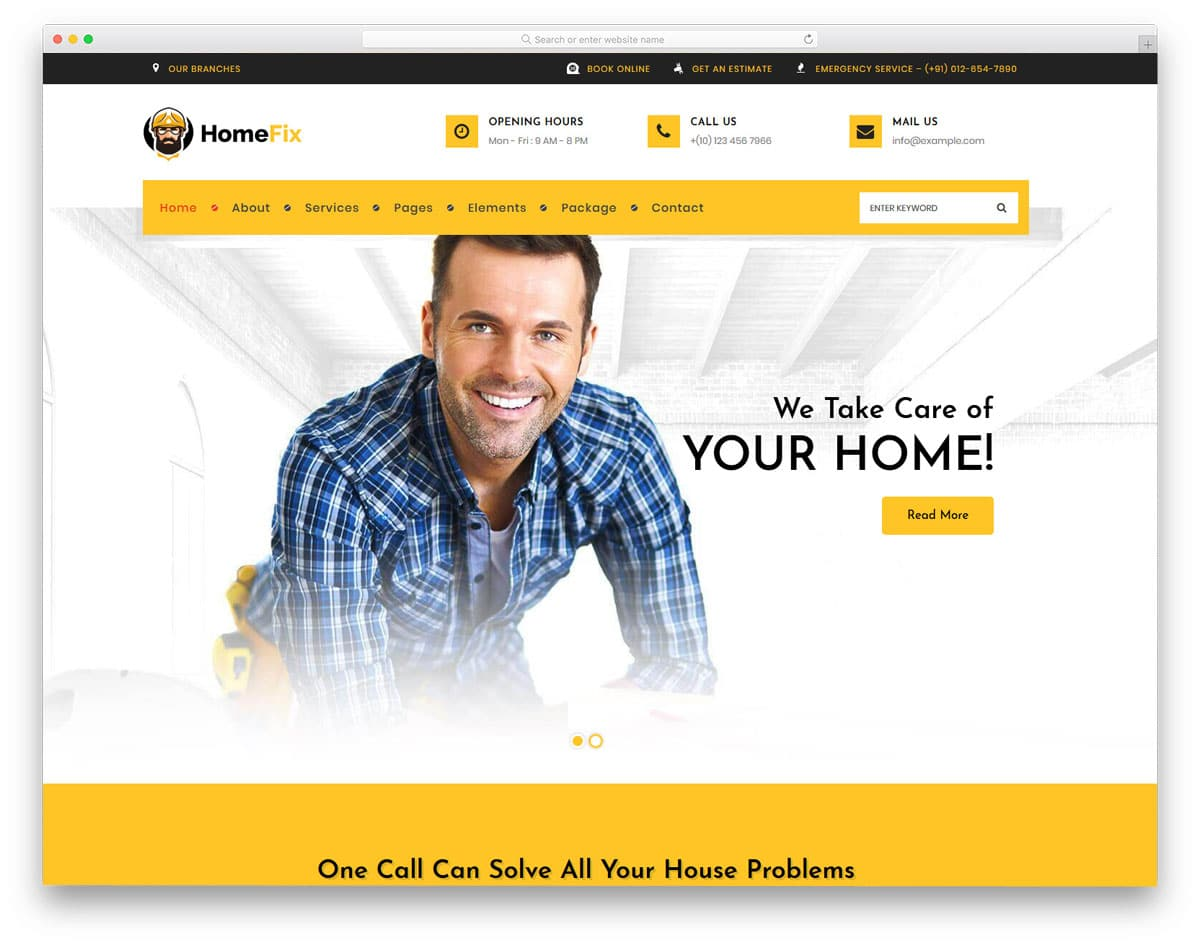 wordpress theme for all home fix and repair websites