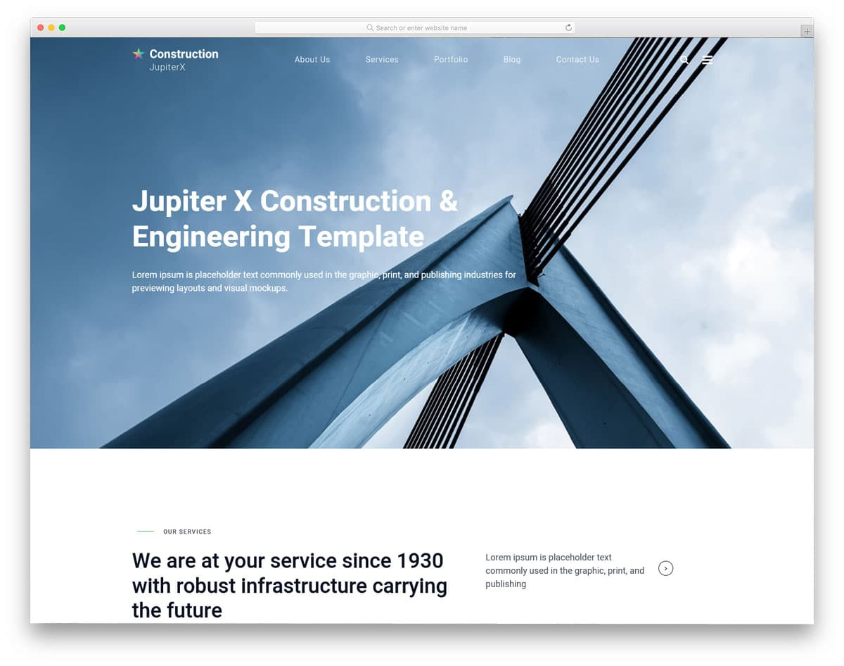 creative business website theme for construction and architect websites