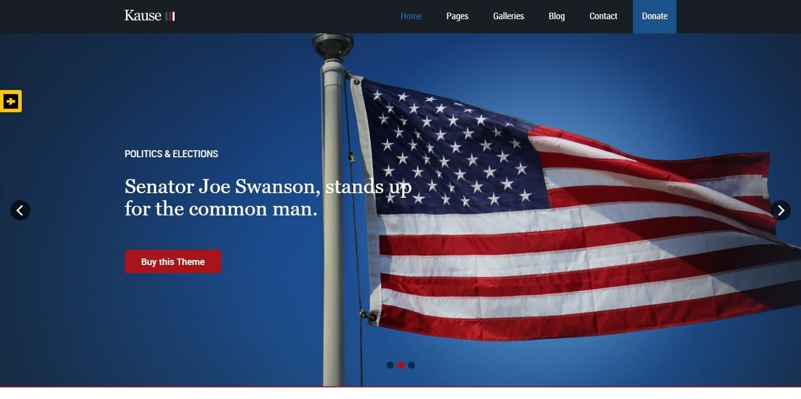 Kause-political-website-template