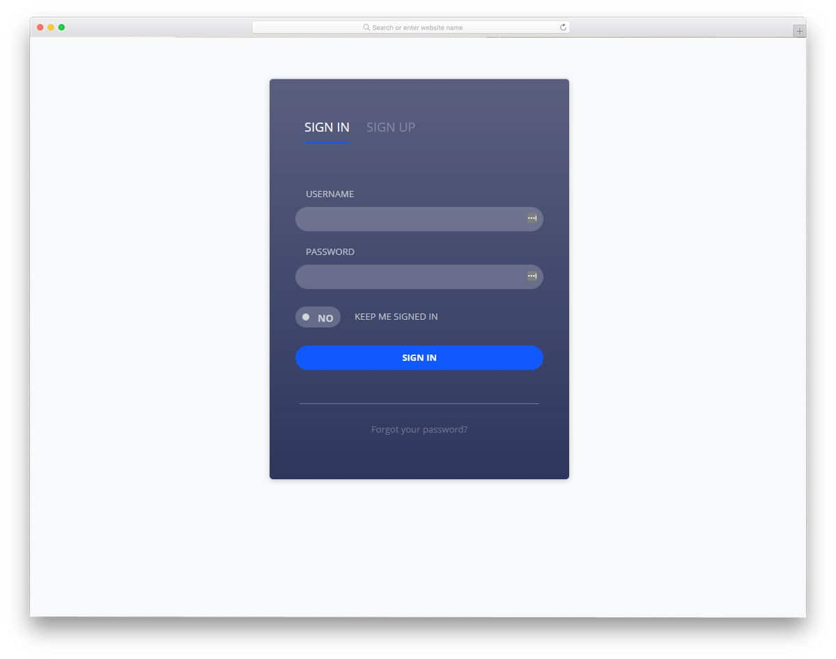 clean and professional looking free login forms