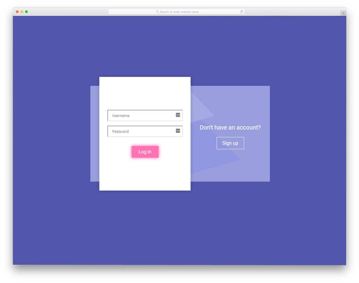 free login forms with interactive animation effects