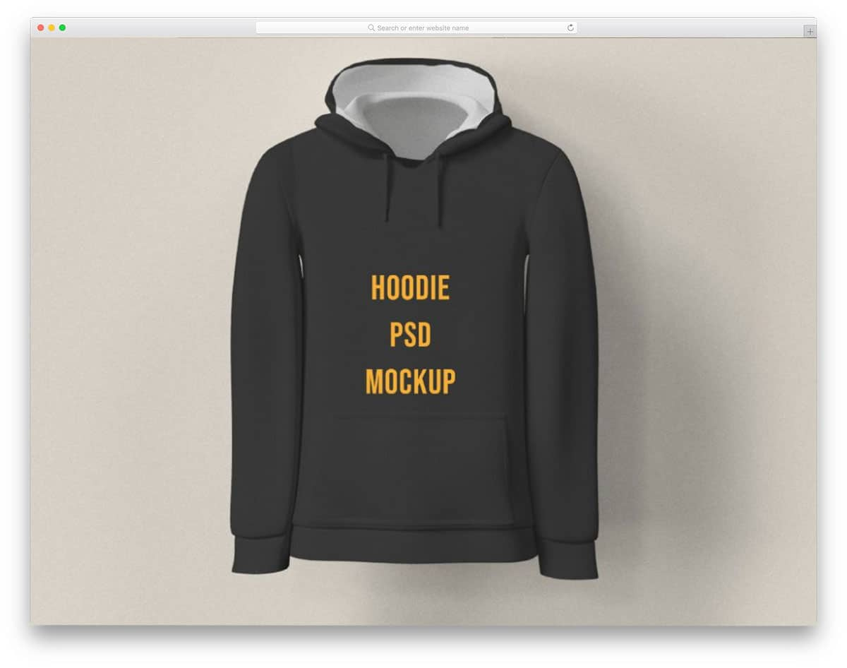simple hoodies mockup