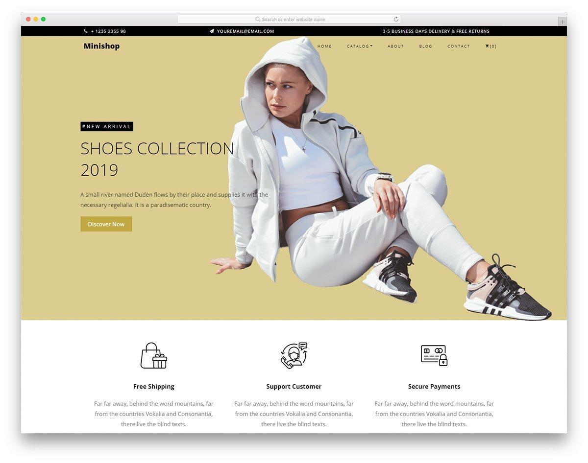 responsive boutique website templates