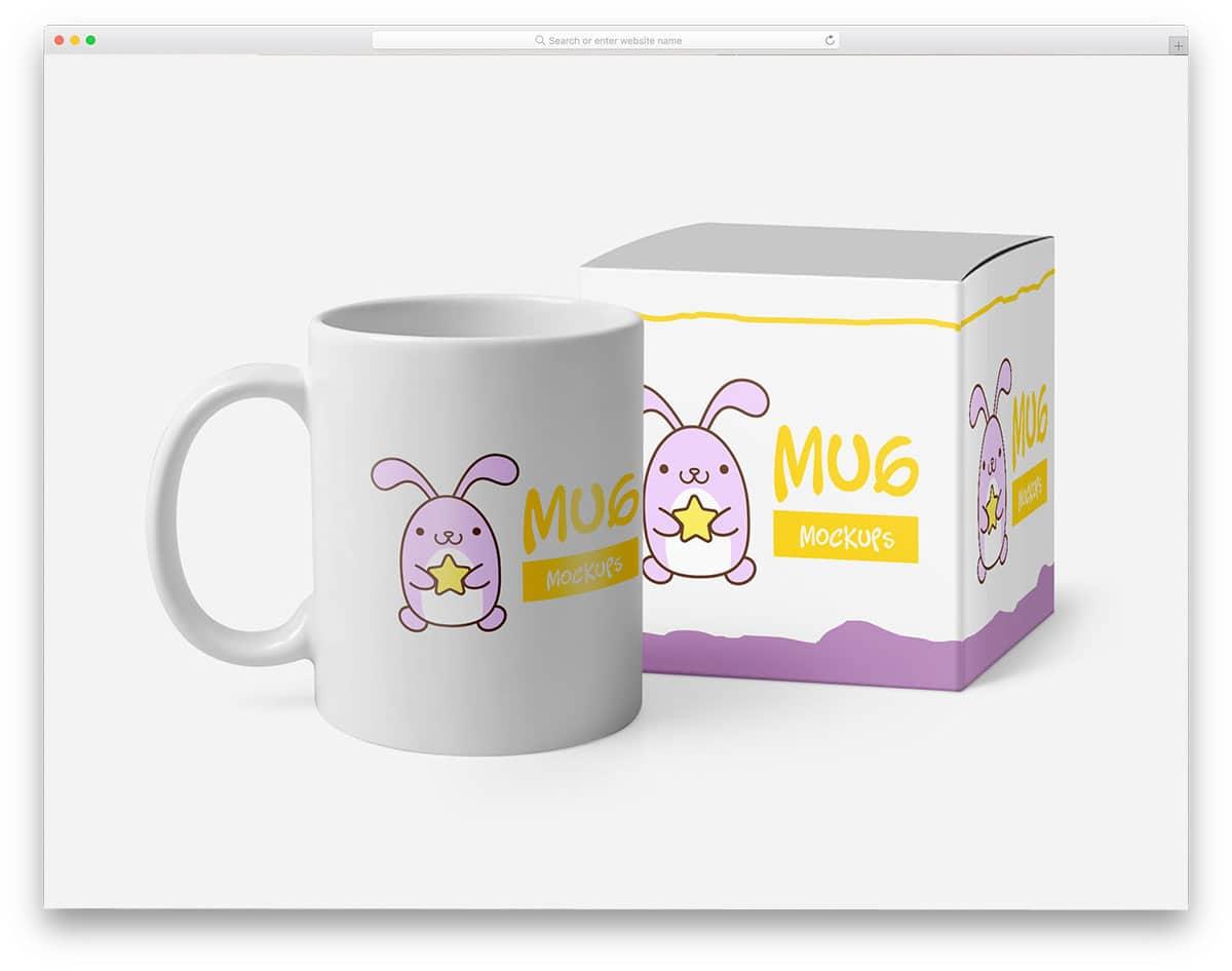 free mug mockups for products