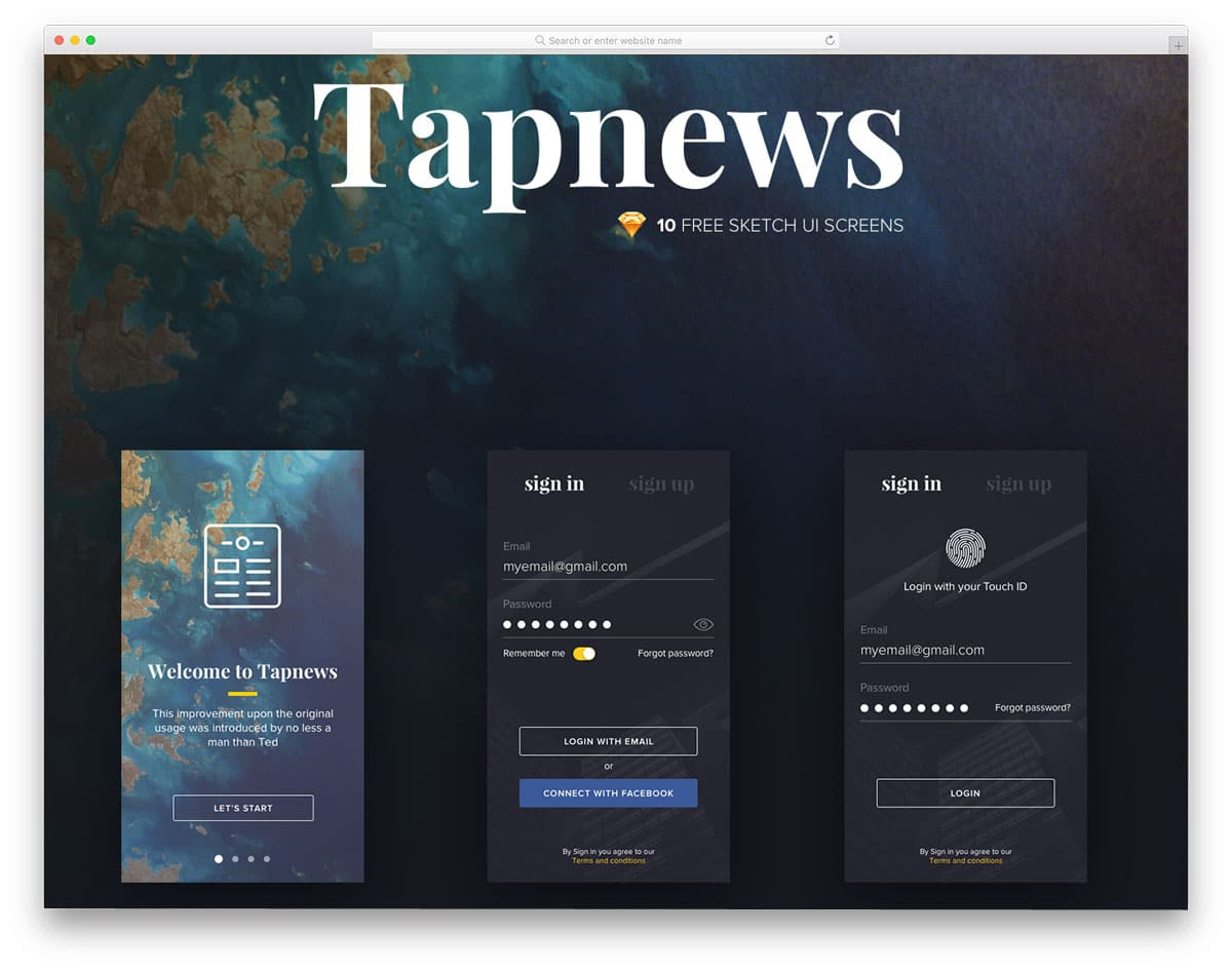 UI Kit for news and content rich mobile application