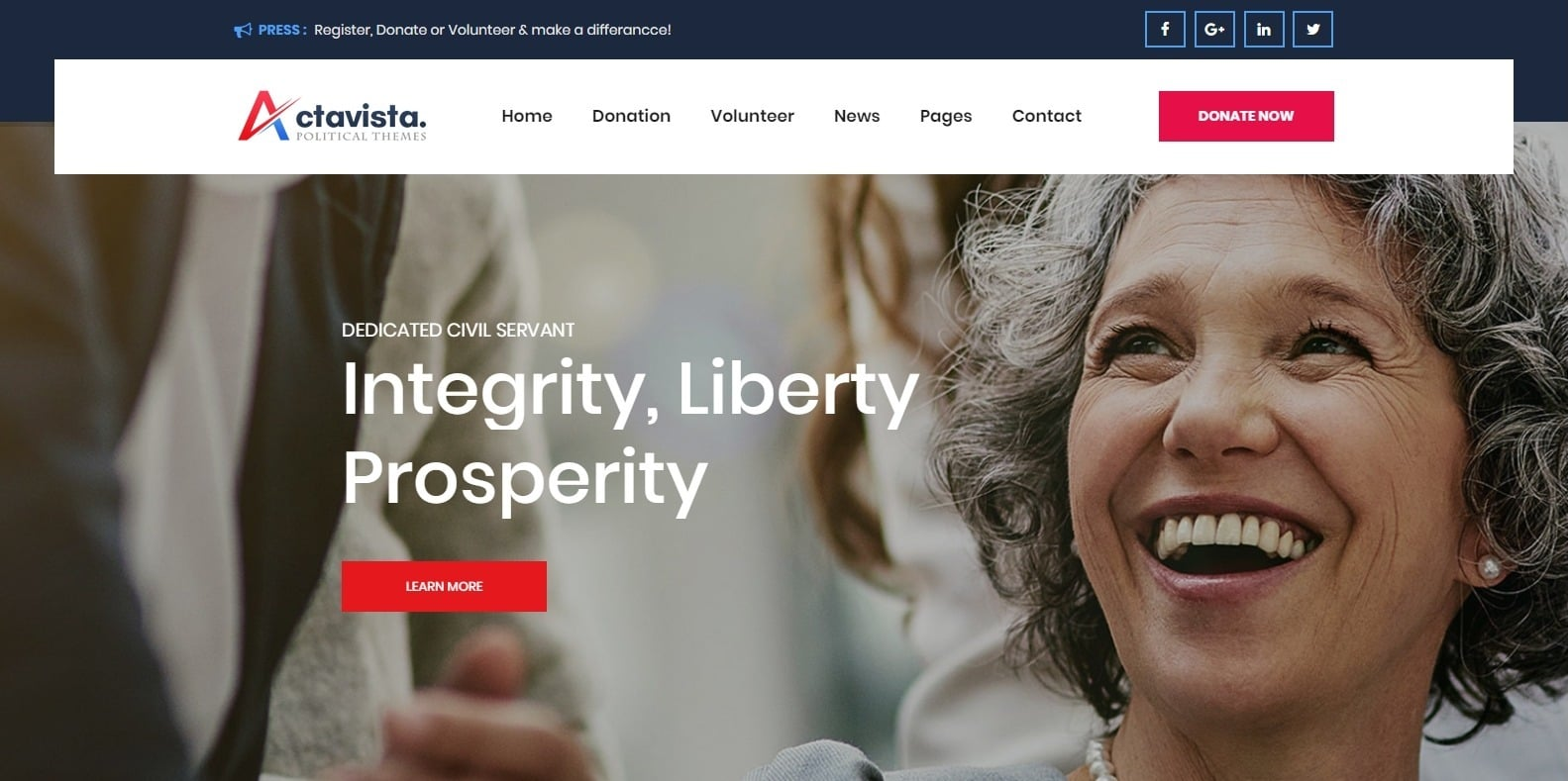 actavista-political-website-template