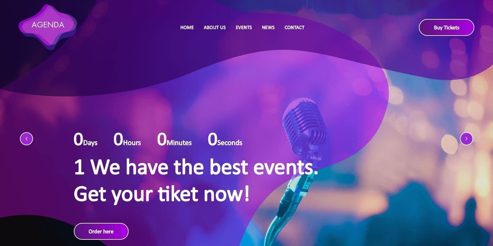 agenda--html-free-music-template