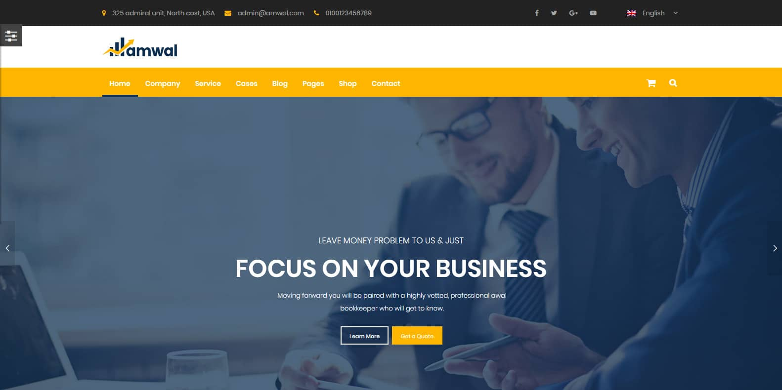 amwal-consulting-website-template