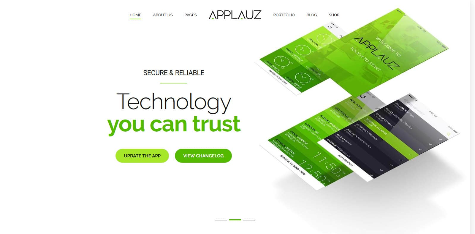 applauz-software-website-template