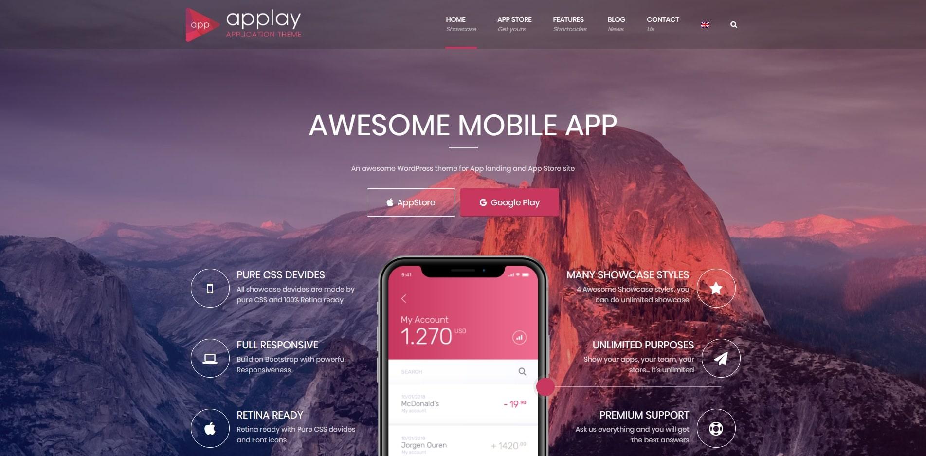 applay technology website template