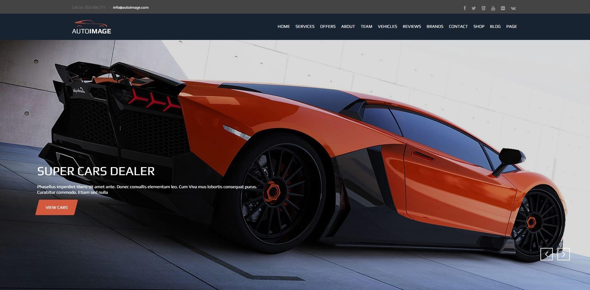 auto image car dealer website template