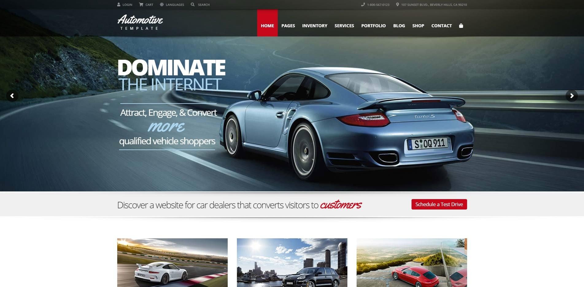 automotive car dealer website template