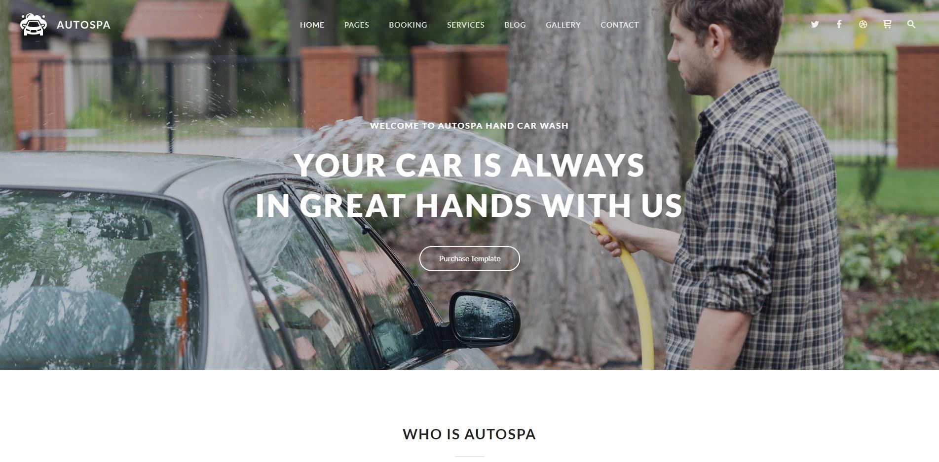 autospa car dealer website template