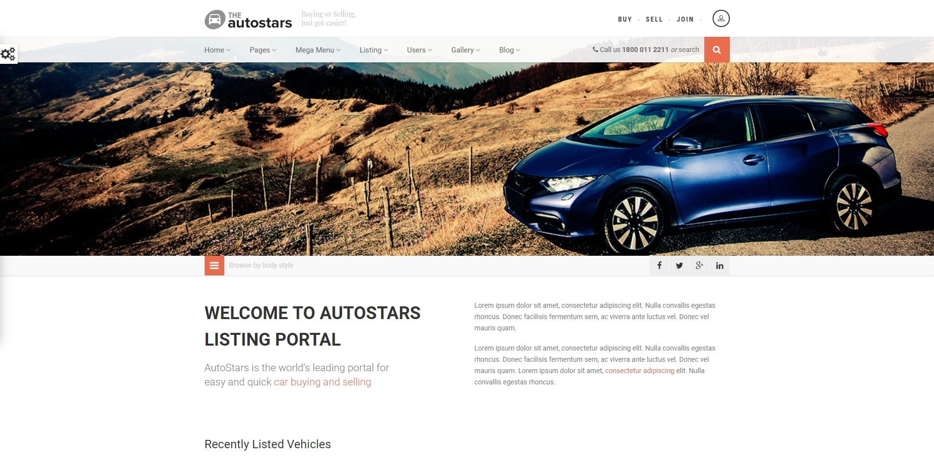autostars car dealer website template