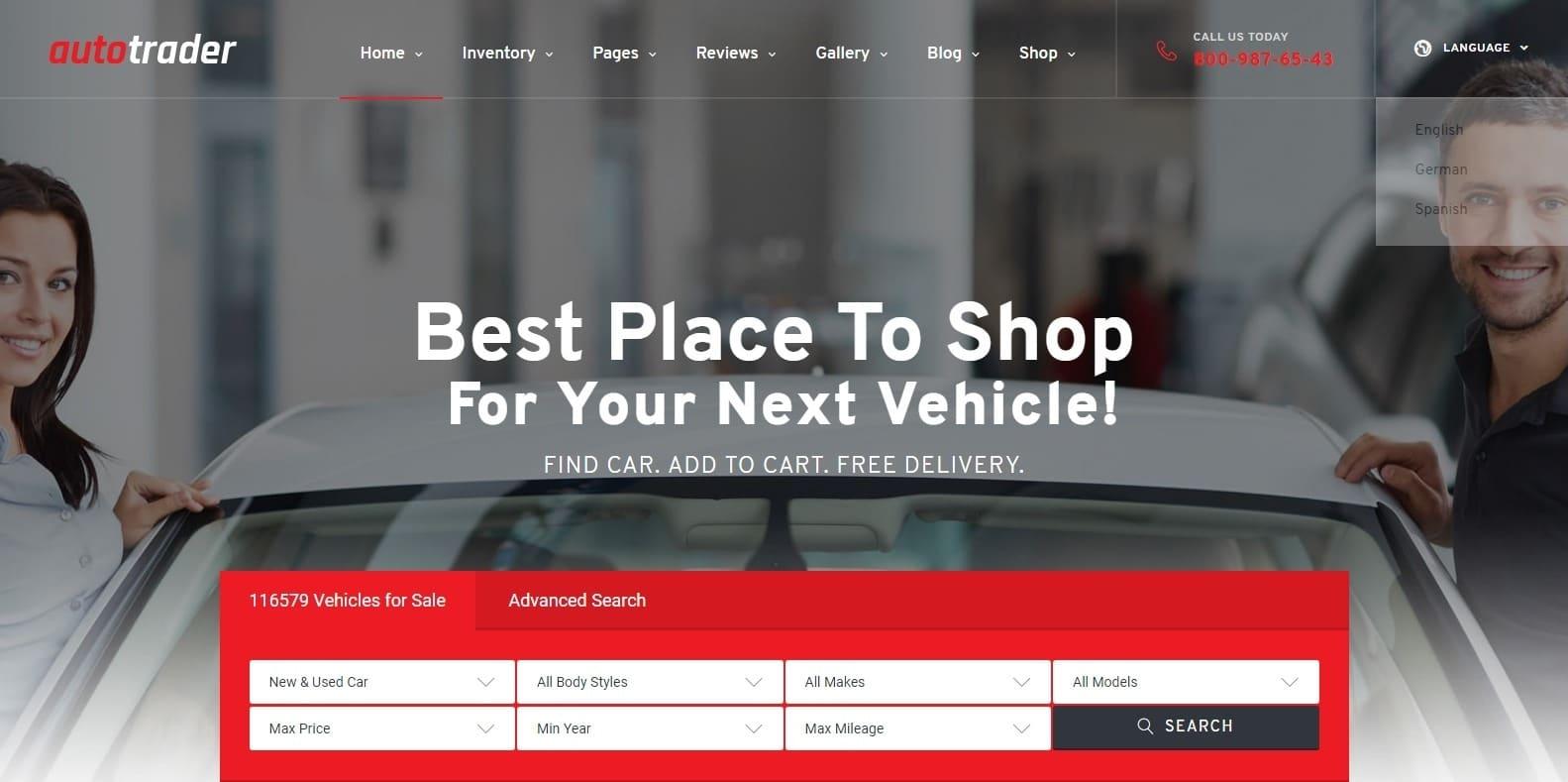 autotrader-automotive-website-template