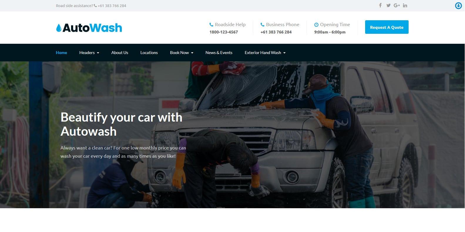 autowash-automotive-website-template