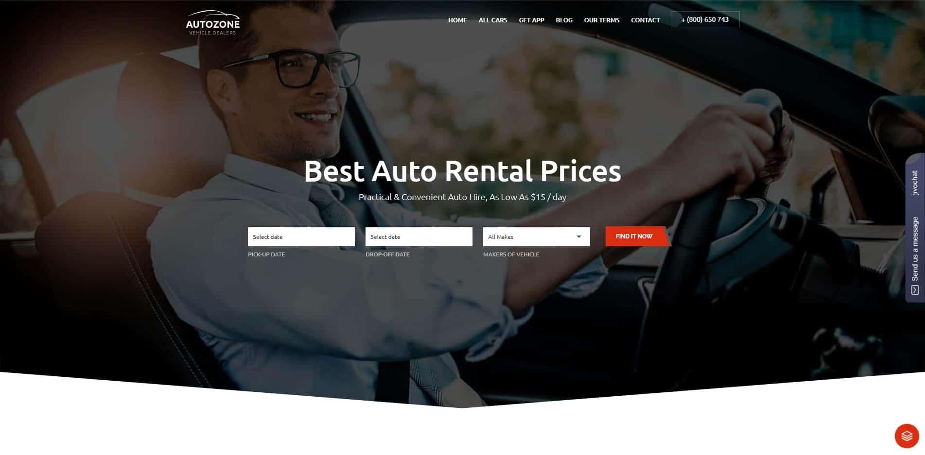 autozone car dealer website template