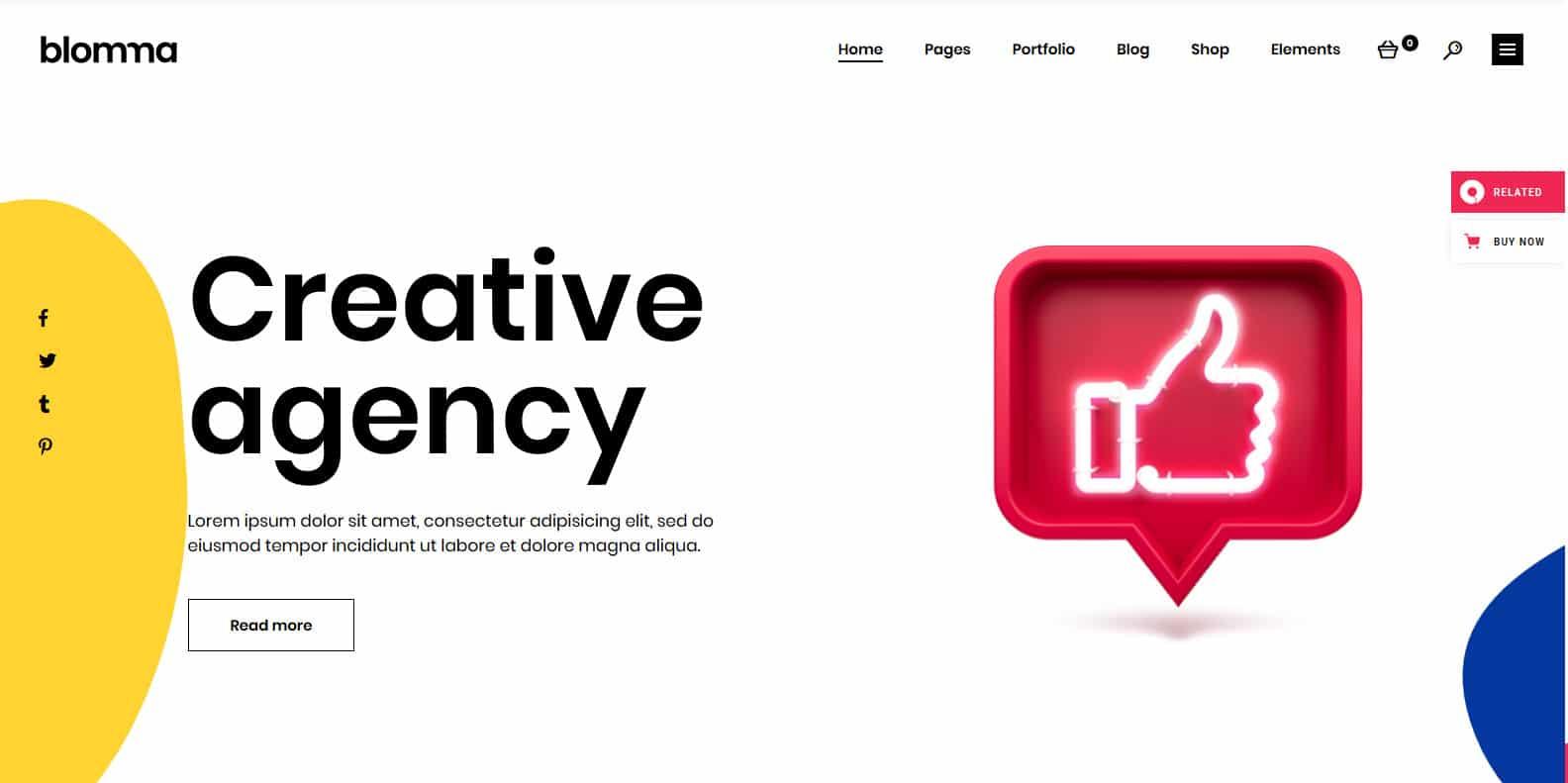 blomma-graphic-designer-website-template