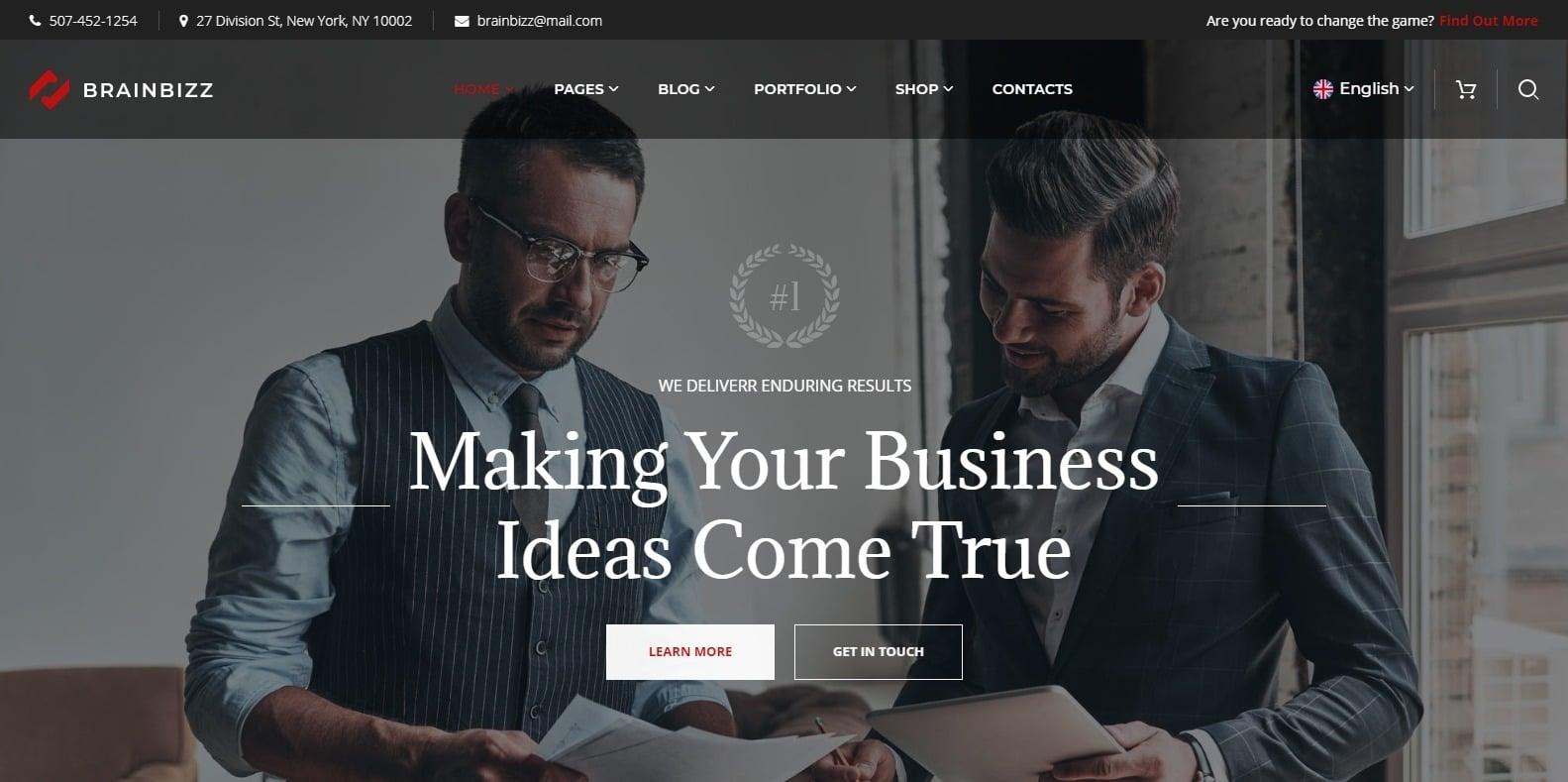 brainbizz-finance-webaite-template