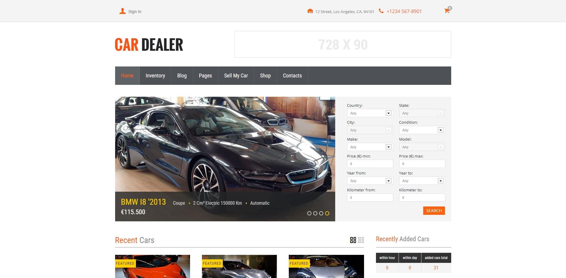 car dealer car dealer website template