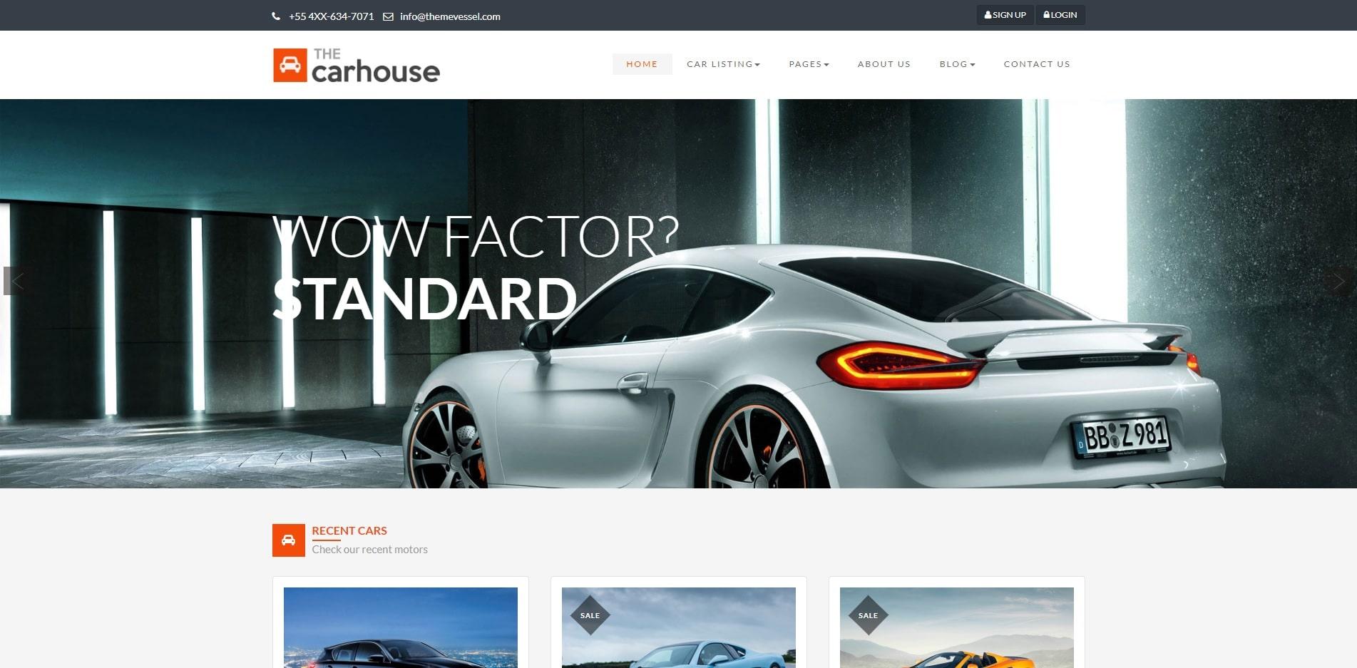 car house car dealer website template