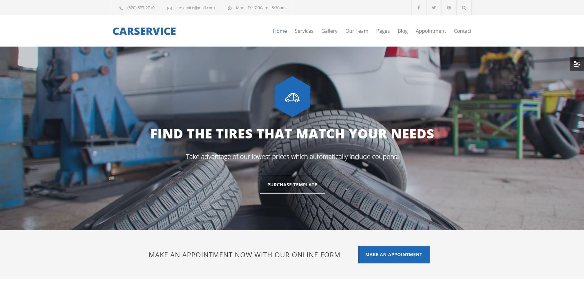 carservice car dealer website template