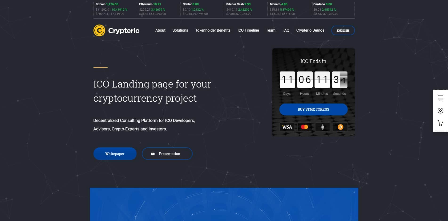crypterio technology website template